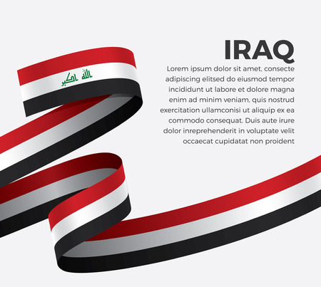 Iraq flag on a white background Stock fotó - 112799094