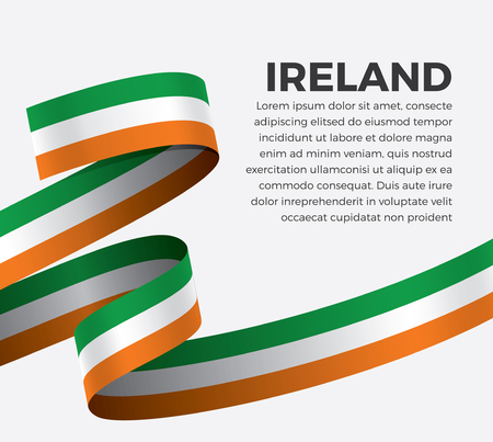 Ireland flag on a white background Stock fotó - 112799093