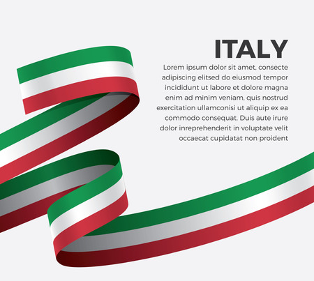 Italy flag on a white background Ilustrace