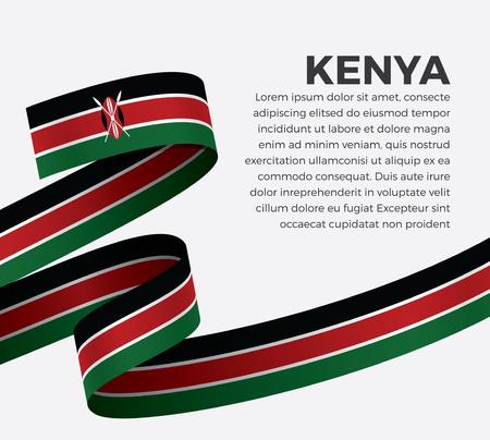 Kenya flag on a white background Stock fotó - 112799099