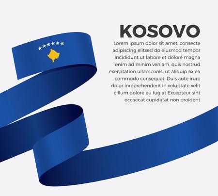 Kosovo flag on a white background