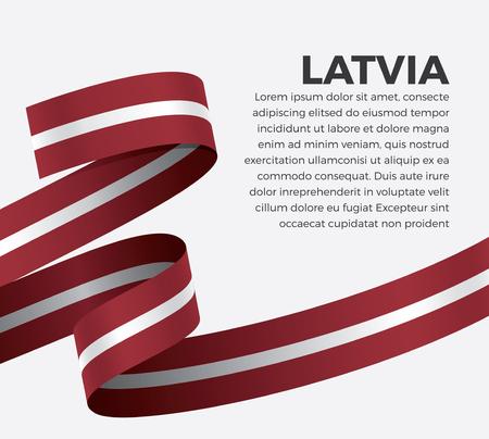 Latvia flag on a white background Stock fotó - 112799103