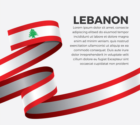 Lebanon flag vector illustration on a white background Stock fotó - 112799104