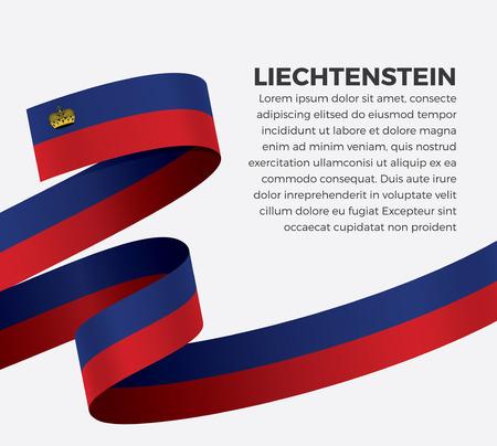Liechtenstein flag vector illustration