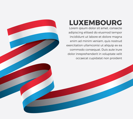 Luxembourg flag, vector illustration on a white background