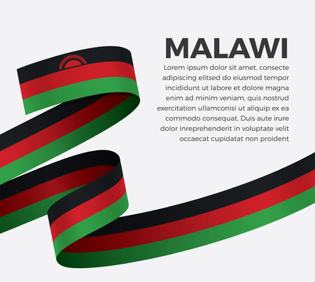 Malawi flag, vector illustration on a white background Stock fotó - 112799109