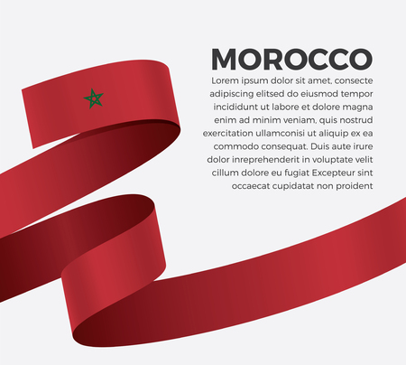 Flag of Morocco, vector illustration on a white background