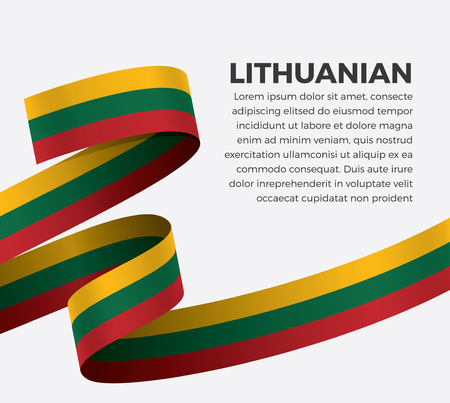 Lithuanian flag, vector illustration on a white background Stock fotó - 112799115
