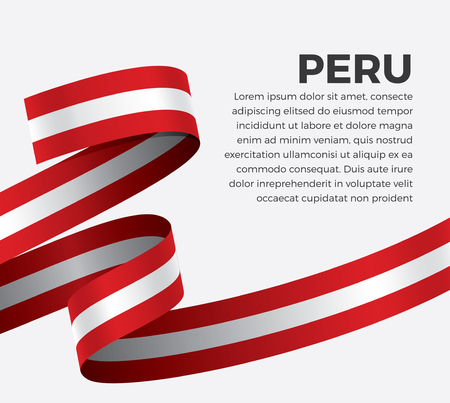 Peru flag, vector illustration on a white background Stock fotó - 112799118