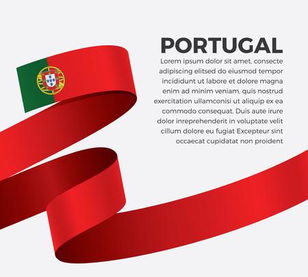 Portugal flag on white background Illusztráció