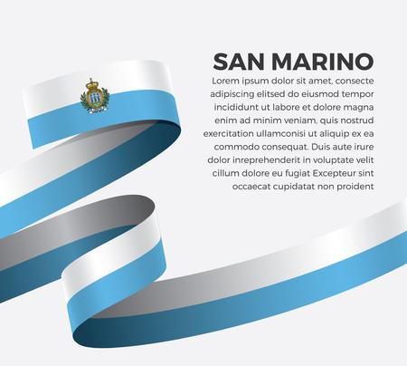 Vector illustration of San Marino flag on a white background Illusztráció