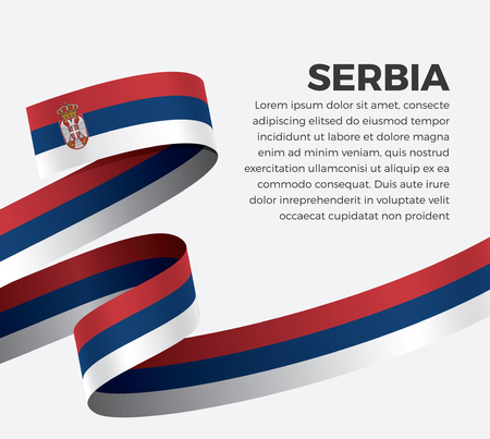 Serbia flag vector illustration on a white background