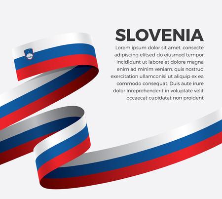 Flag of Slovenia on white background