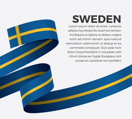 Vector illustration of Sweden flag on a white background Stock fotó - 112799130