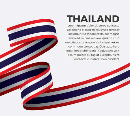 Thailand flag vector illustration 矢量图像