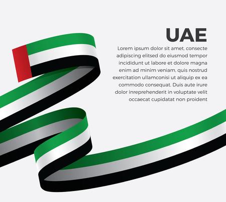 UAE flag, vector illustration on a white background Stock fotó - 112799158