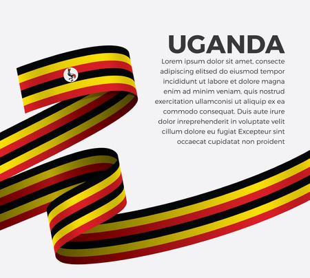 Uganda flag, vector illustration on a white background Illusztráció