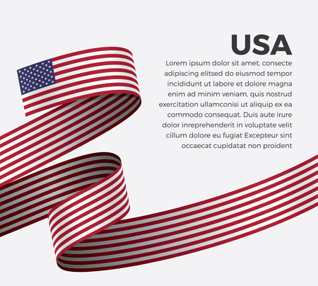 USA flag, vector illustration on a white background Stock fotó - 112799161