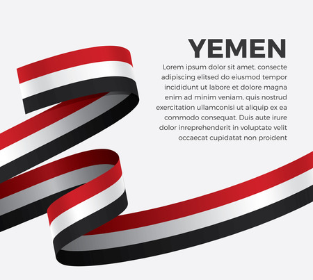 Yemen flag, vector illustration on a white background Illustration