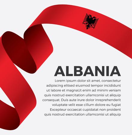 Albania flag on a white background