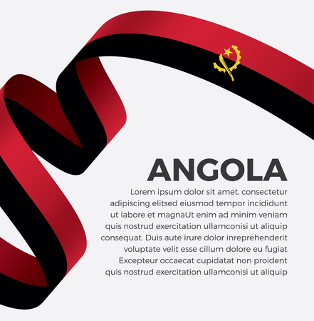 Angola flag on a white background Stock fotó - 112799166