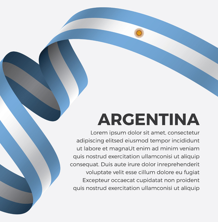 Argentina flag on a white background Illustration