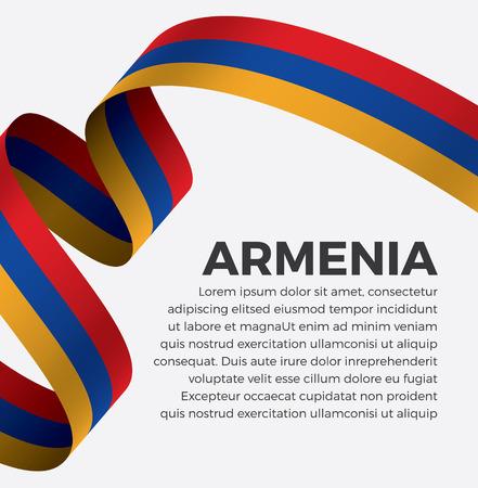 Armenia flag on a white background Illusztráció
