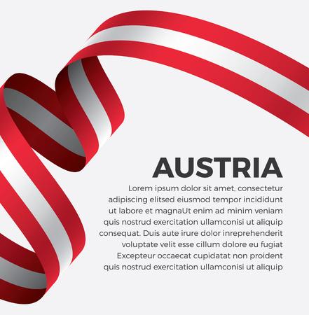 Austria flag on a white background