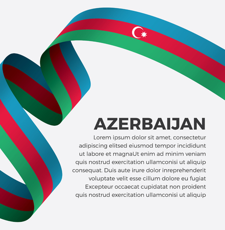 Azerbaijan flag on a white background Stock fotó - 112799170