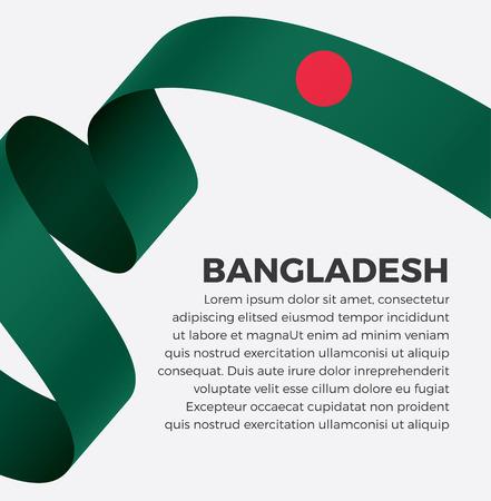 Bangladesh flag on a white background Illusztráció