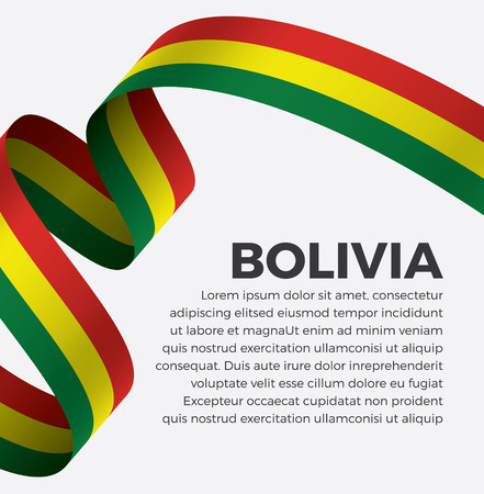 Bolivia flag on a white background