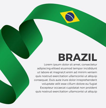 Brazil flag on a white background Stock fotó - 112799295