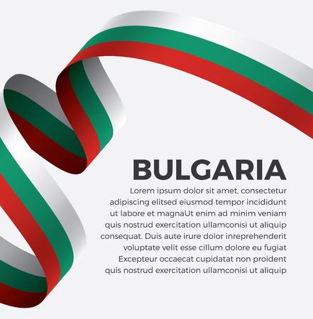 Bulgaria flag on a white background Illusztráció