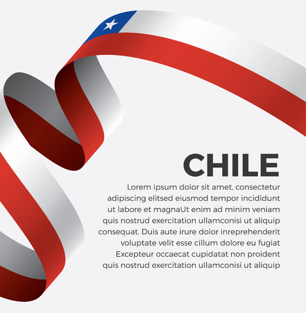Chile flag on a white background Stock fotó - 112799297