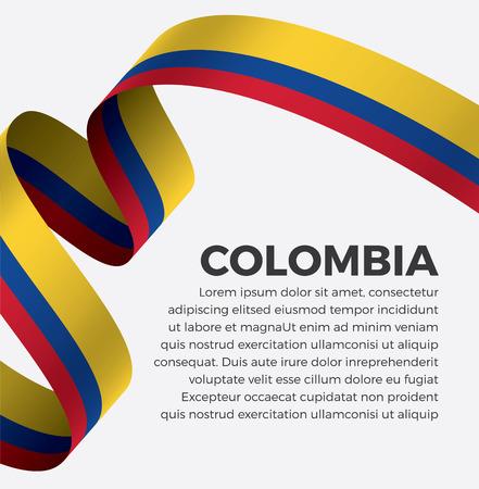 Colombia flag on a white background Illusztráció