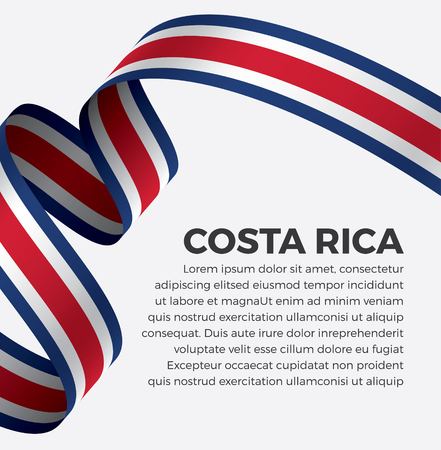 Costa Rica flag on a white background Stock fotó - 112799300