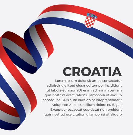 Croatia flag on a white background Illusztráció