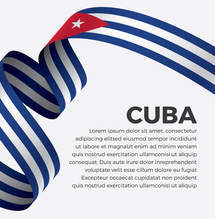 Cuba flag on a white background