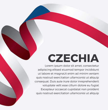 Czechia flag on a white background Banque d'images - 112799304