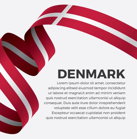 Denmark flag on a white background