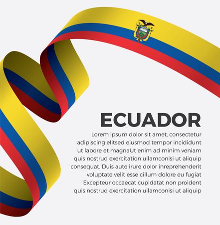 Ecuador flag on a white background Illusztráció