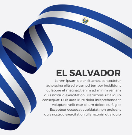 El Salvador flag on a white background