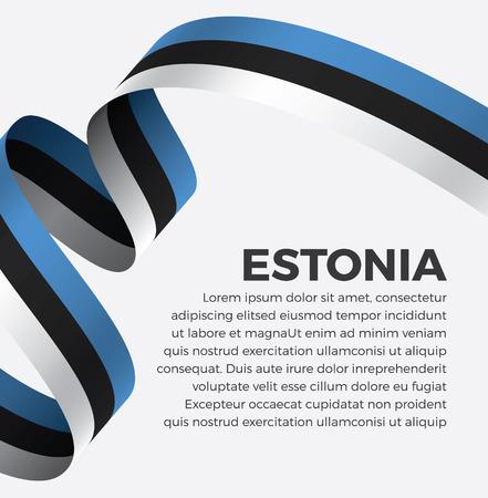 Estonia flag on a white background Illusztráció