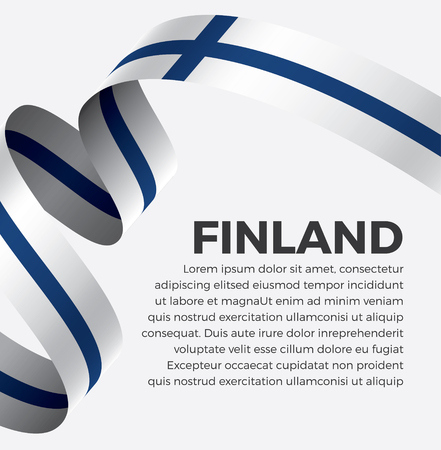 Finland flag on a white background Stock fotó - 112799311