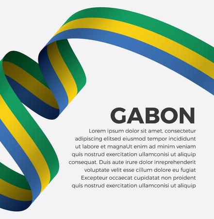 Gabon flag, vector illustration on a white background Banque d'images - 112799313