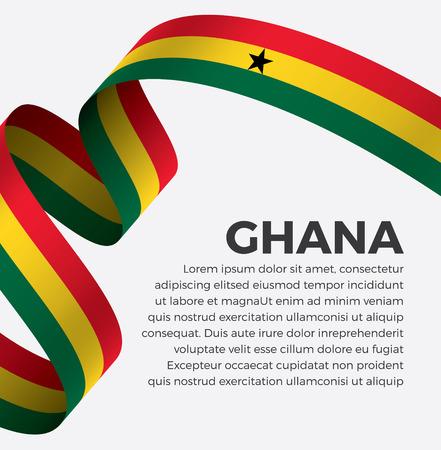 Ghana flag, vector illustration on a white background Illusztráció