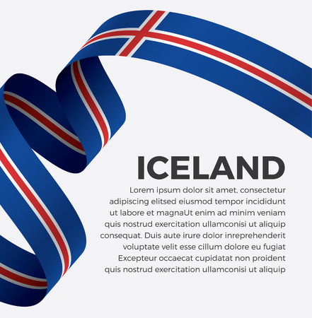 Iceland flag on a white background Stock fotó - 112799329
