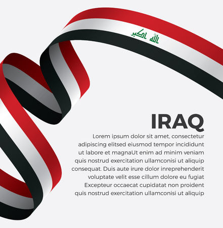 Iraq flag on a white background Stock fotó - 112799332