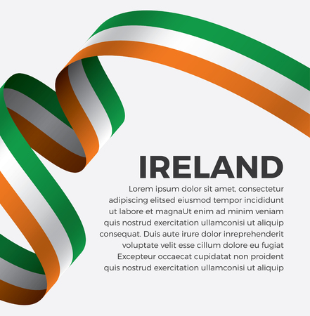 Ireland flag on a white background Banque d'images - 112799353