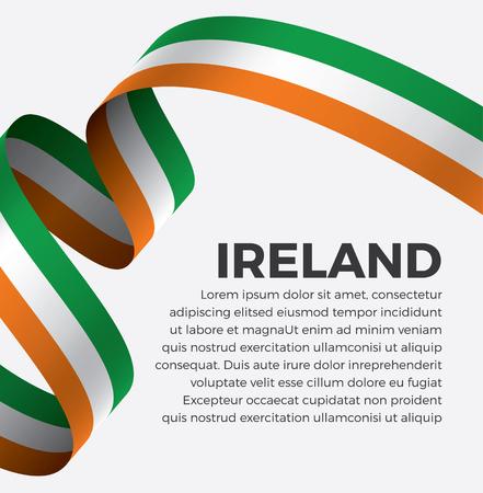 Ireland flag on a white background Illusztráció